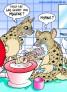 CARTOON Hyäne putzt Zähne