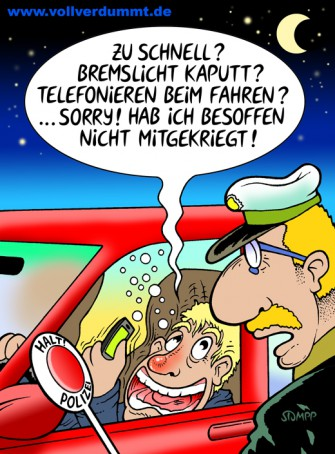 CARTOON Alkohol am Steuer