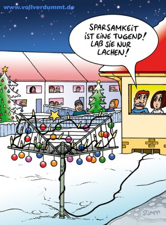 CARTOON Weihnachtsbaum Wäscheständer