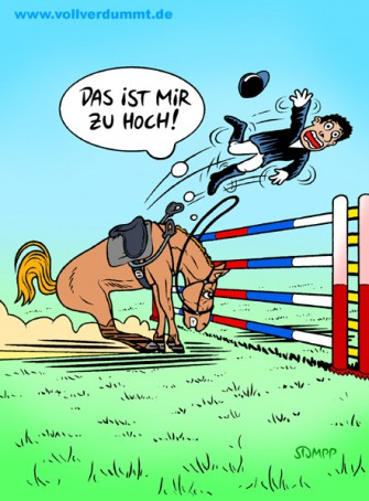 CARTOON Sprungreiten