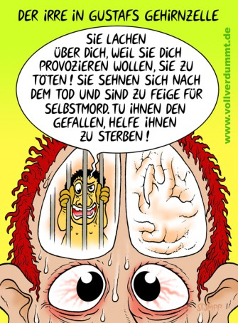 CARTOON Der Irre