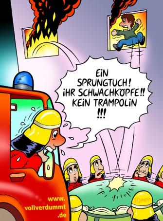 Cartoons In Nanopics Feuerwehrauto A