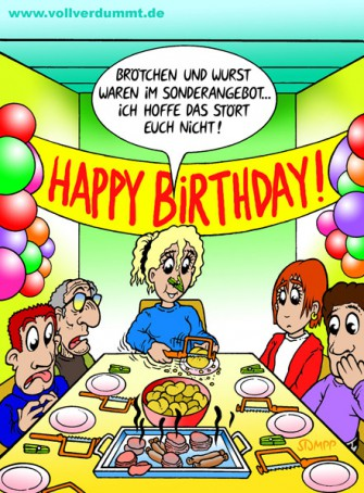 CARTOON Geburtstagsparty