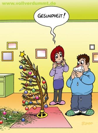 CARTOON Gesundheit an Weihnachten