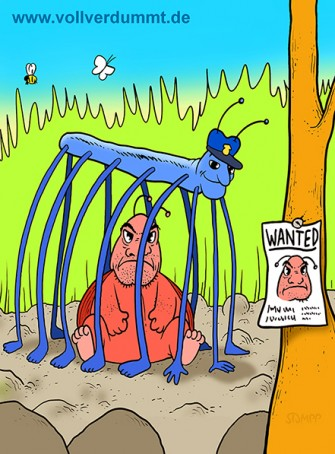 CARTOON Insekten Fahndung