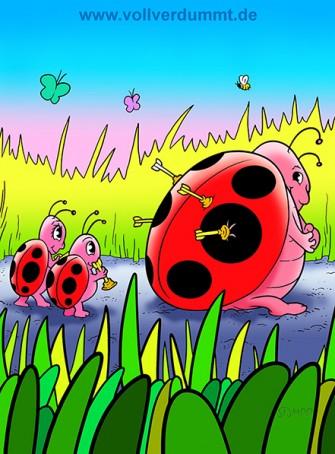 CARTOON Käfer und Zielscheibe