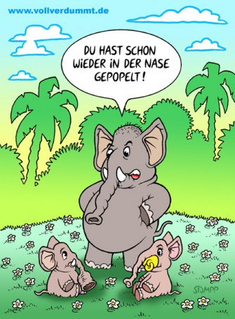 CARTOON Nase gepopelt