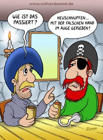 CARTOON Pirat mit Augenklappe