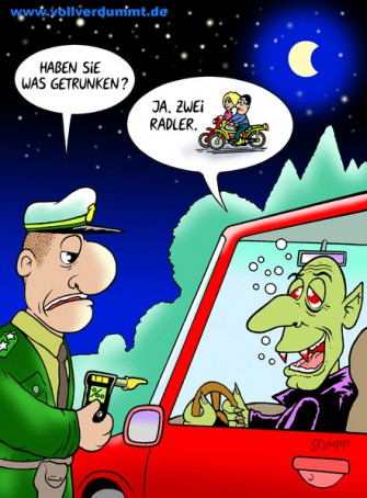 CARTOON Polizist und Vampir