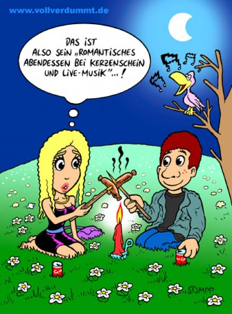 Romantisches Dinner | Cartoons | STUMPP VOLLVERDUMMT!
