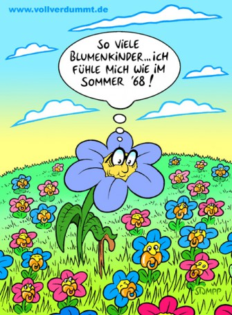 CARTOON Blumenkinder