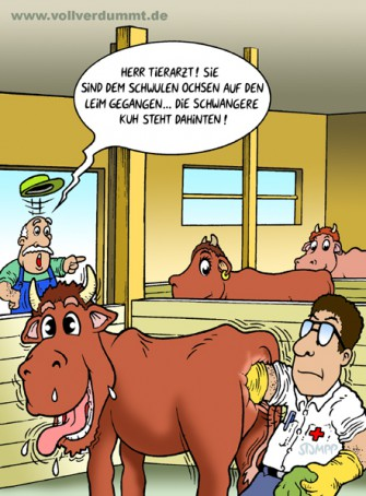 CARTOON Tierarzt