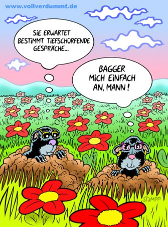 CARTOON Verliebte Maulwürfe