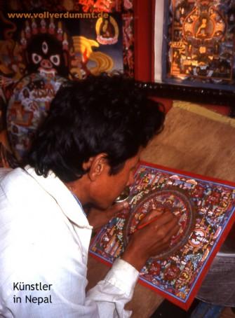 CARTOON Künstler in Nepal