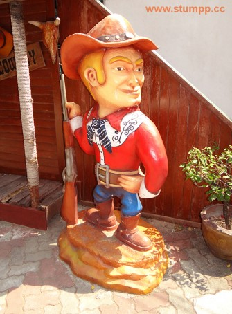 CARTOON Cowboy Skulptur