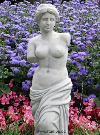 CARTOON Römische Statue und Blumen